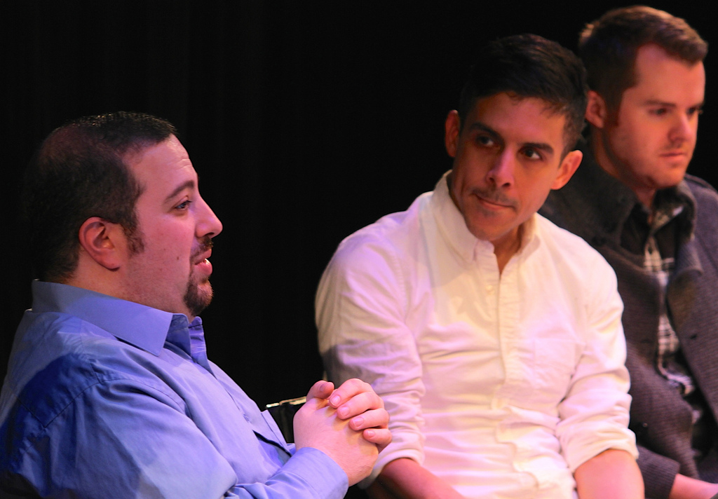 I talk with Matthew Lopez about my scene at the 2015 New Play Summit. Grady Soapes with the DCPA is in the background.